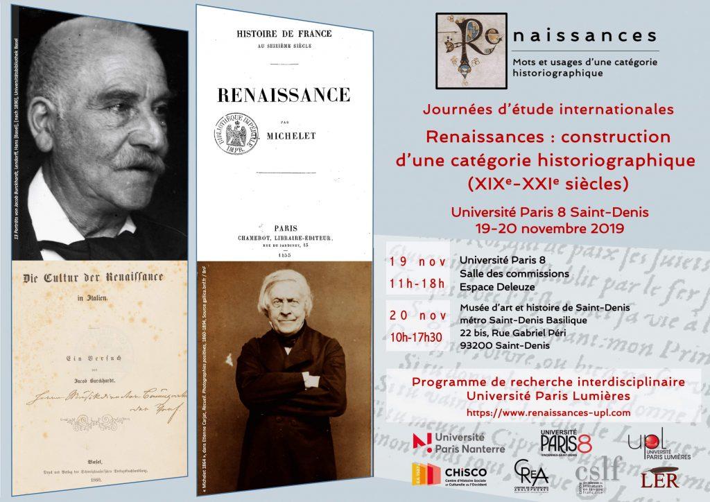 Renaissances : construction d'une catégorie historiographique (XIXe-XXIe siècles)
